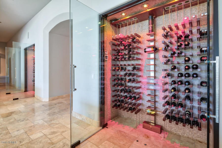 Contemporary Glass Wine Walls